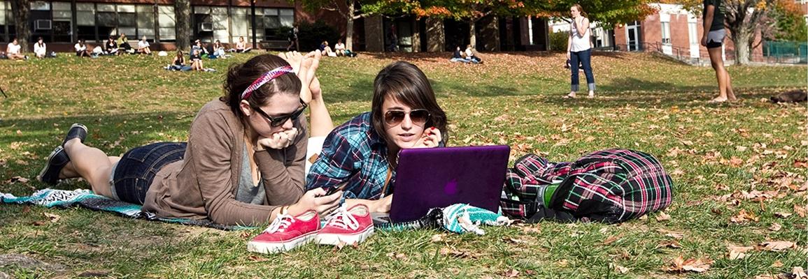 Appalachian State University students on mall