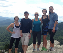 Masters Students of Nutrition on Mountain Top