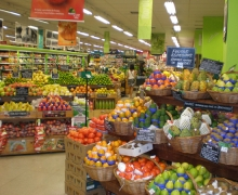 Grocery store produce section